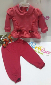 Conjunto Paraiso Bebe Menina Pagão Chick Calça Blusa 7103