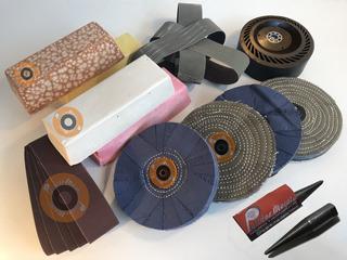 Kit Completo Para Lijar Y Pulir Aceros Y Metales No Ferrosos