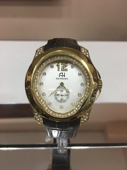 Relógio De Pulso Ana Hickmann Ah28286 Couro Marrom Feminino