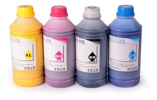 Set 6 Tintas 500ml Pigmentadas Para Plotter Canon