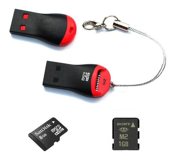 Lector De Memoria Micro Sd Adaptador Usb Tipo Pendrive 2.0