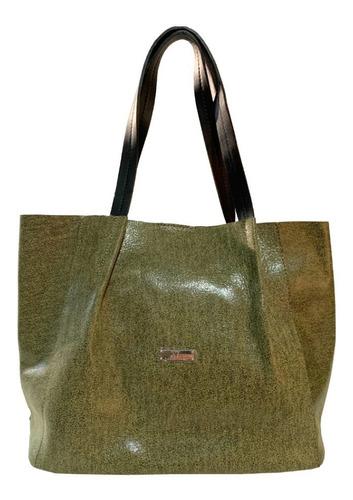 Shopper Mujer Xl Extra Large Paulina Verde