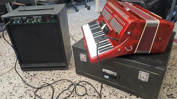 Acordeon Electro Amplificado 120 Bajos +amp Laney Canje