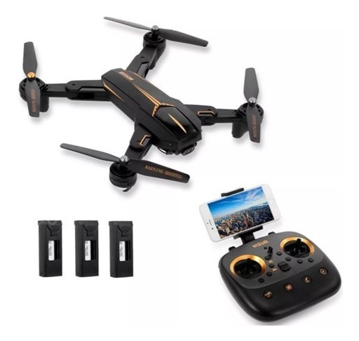 Drone Visuo Xs812 Gps Wifi 5g Câmera 5mp 1080p C/ 3 Baterias