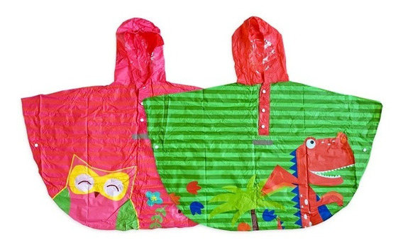 Capa Piloto De Lluvia Para Niños Con Bolsita