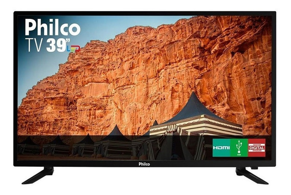 Tv Led 39 Polegadas Philco Hd Com Conversor Digital 3 Hdmi