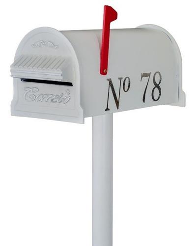 Kit 8 Caixa Correio Americana Pedestal + Numero Brinde!