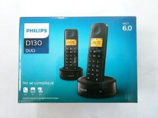 Telefone Philips D130 Duo Com Identificador De Chamadas