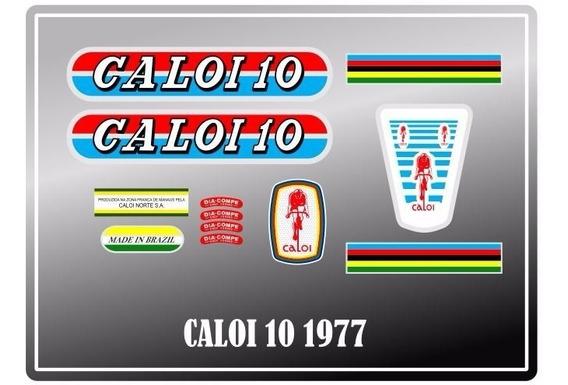 Adesivos Para Bicicleta Antiga Caloi 10 1977 - Frete Grátis