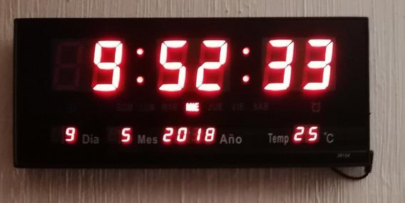 Reloj De Pared Led 36cm Calendario, Termometro + Envío