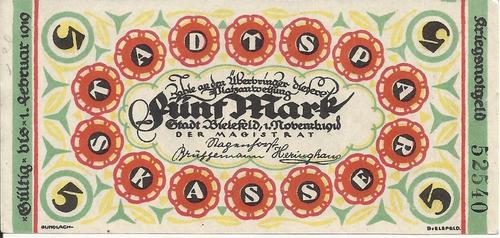 Imagen 1 de 2 de Alemania 5 Marcos 1919