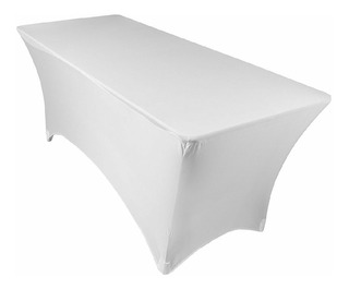 Mantel Blanco, Tipo Lounge Para Mesa Plegable 1.83 X 76 Cms