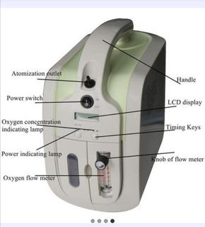 Concentrador De Oxigeno Portátil Longfian 1l/min.
