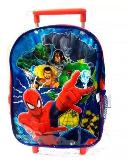 Mochila Spiderman Carro 12 Original Wabro