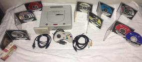 Sega Saturn Japones Completo + Cartucho Ram + 8 Jogos