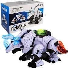 Dinossauro Robo Triceraptops Luz E Som E Movimento Mecanico