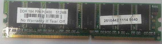 Memória Ddr 184 Pin Pc400 512mb Pc3200 Genérica