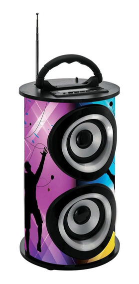 Caixa De Som Amplificada Portatil Bluetooth Usb Fm Trc 218a