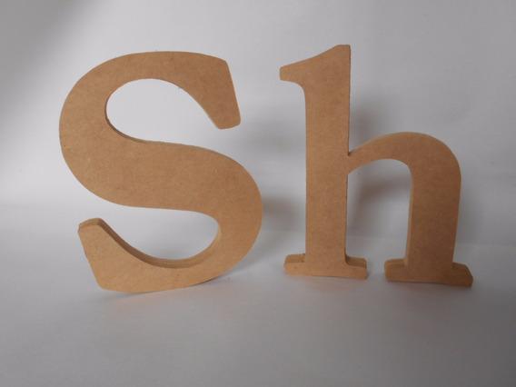 Letras Numeros Nombres Mdf Fibrofacil 20cm X 12mm