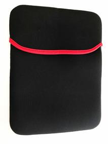 Case Estojo Capa Neoprene Tablet/iPad 10 Preto/vermelho