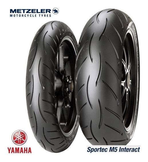 Pneu 110/70-17 + 140/70-17 Metzeler Sportec M5 Mt03 R3 Fazer