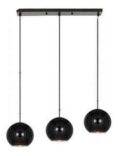 Lampara Colgante Tom Dixon Negro 3 Luces Deco Diseño P/led