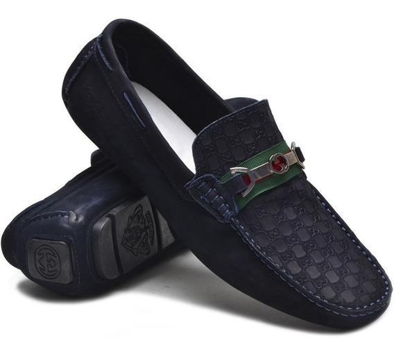 Mocassim Sapato Drive Casual Gts Masculino 100% Couro