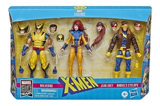 Marvel Legends 80 Años 3 Pack Wolverine, Jean Grey Y Ciclope
