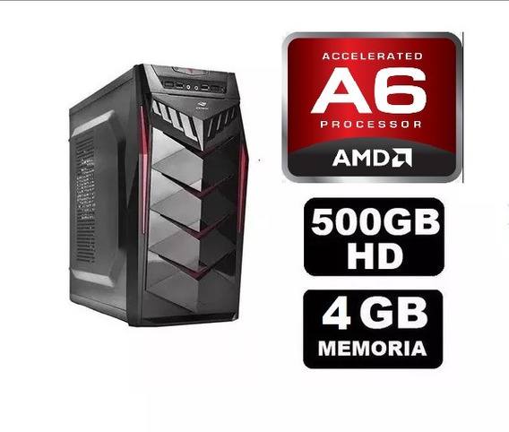 Pc Gamer Amd A6 7480 4gb Ram + Wifi + Hd 500gb