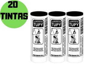 20 Tinta Corante De Roupas Tupy Preto 45g Atacado Revenda