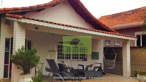 Imagem 1 de 30 de Casa Com 3 Dormitórios À Venda, 161 M² Por R$ 900.000,00 - Granja Viana - Carapicuíba/sp - Ca2043