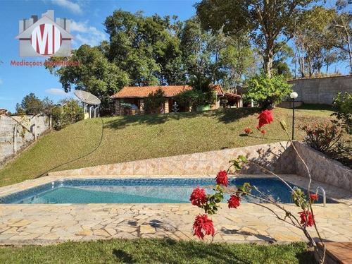 Imagem 1 de 30 de Linda Chácara Com 01 Dormitório, Piscina, Paisagismo, Pomar, Linda Vista, À Venda, 1000 M² Por R$ 380.000 - Zona Rural - Pinhalzinho/sp - Ch0819