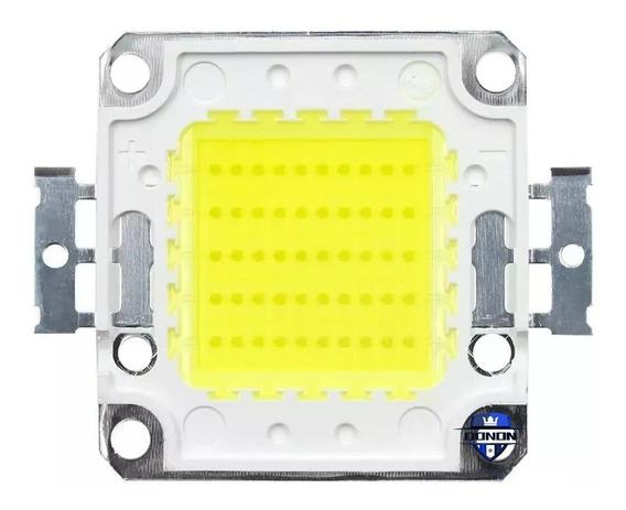 10x Chip Led 50w Reposição De Refletor - Branco Frio