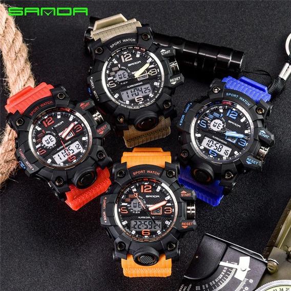Relógio Sanda Mod. 742-*frete Grátis + Caixa Estojo Acrilico