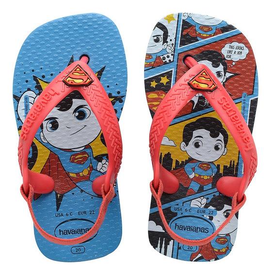 Chinelo Havaiana Baby Herois Superman Sandalia Colecao 2020