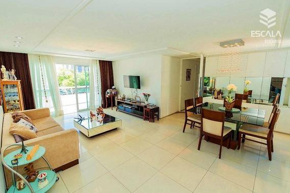 Apartamento Com 4 Quartos À Venda, 178,00m², 4 Vagas, Área De Lazer, 1 Por Andar - Meireles - Fortaleza/ce - Ap1066