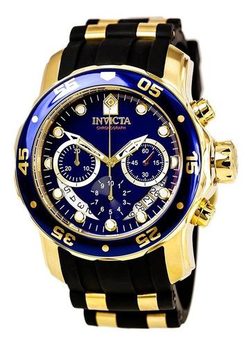 Reloj Hombre Invicta Pro Diver Dorado Azul 6983