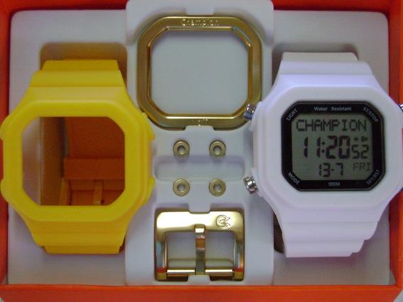 Relógio Champion Yot Original Cp40180x Nf Amarelo Branco