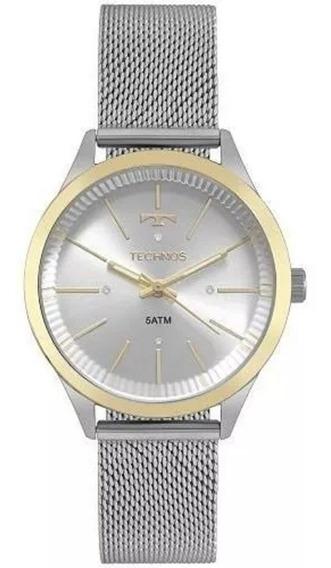 Relógio Feminino Technos Prata Fashion 2039bz/5k + Nf