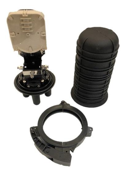 Caixa Emenda Fibra Óptica 24fo Mini Ceo Termocontrátil + Nfe