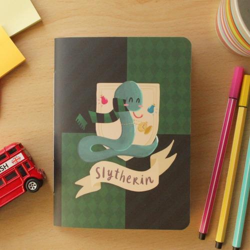 Imagem 1 de 3 de Caderninho Hp - Slytherin