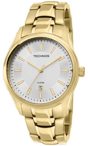 Relógio Masculino Technos Dourado Classic Steel 2115tx4b