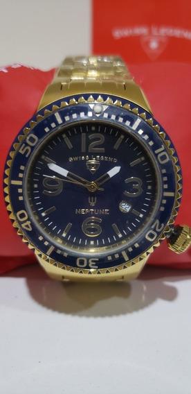 Relógio Swiss Legend Neptune Original Caixa Manual Certific