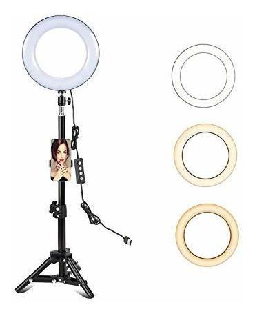 Imagen 1 de 6 de Luz De Anillo Selfie De 8 Pulgadas Con Tripode Y Soporte Pa