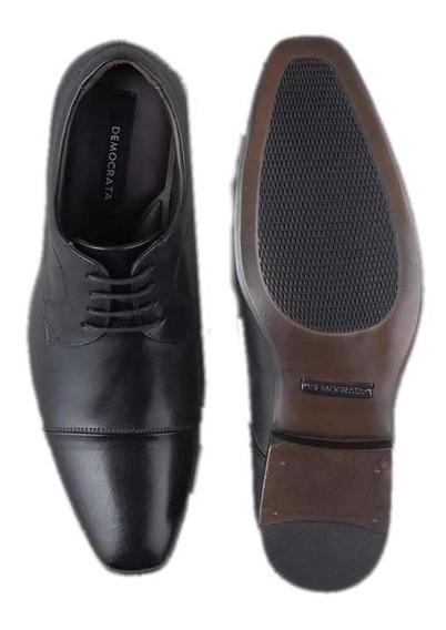 Sapato Metropolitan Bellagio Preto Democrata Derby 192101