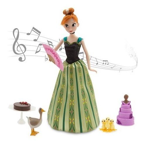 Anna Frozen Boneca Canta 30cm Acessórios Orig Disney Store