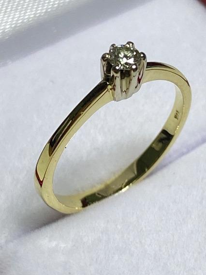 Anillo De Compromiso Diamante Natural 0.10ct