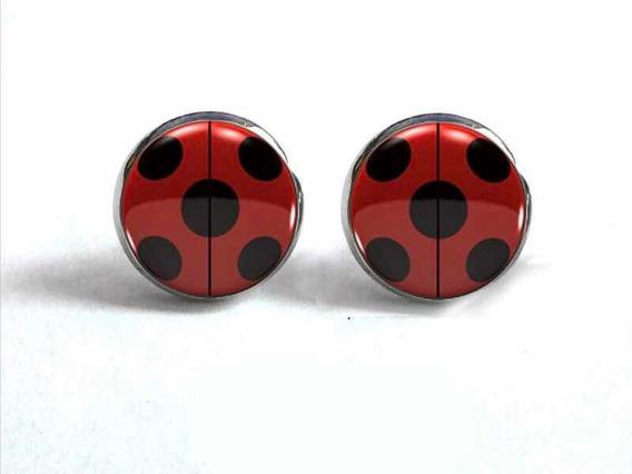 Aretes Miraculous Ladybug. Acero Inoxidable