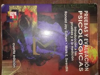Libro Pruebas Y Evaluacion Psicologicas Por Jay Cohen