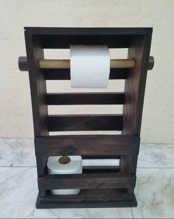 Organizador De Madera Para El Baño - Revistero - Porta Papel